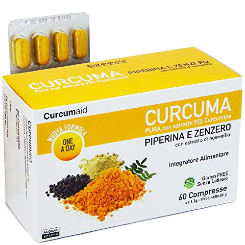 Curcuma E Piperina 600mg Biologica Integratore Prodotto da Nutravita – Curcuma con Estratto Di Curcumina E Pepe Nero – 120 Capsule Biologiche Di 600 mg
