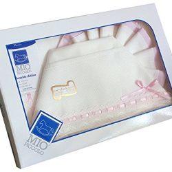 PEKITAS Bebe Set di lenzuola strette 3 pezzi per Miniculle 50 x 80 cm 100% cotone prodotto in Spagna bianco
