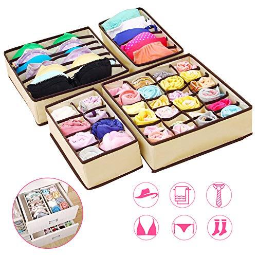 mDesign Set da 2 Portaposate da cassetto – Divisore cassetto modulare per argenteria e Utensili da Cucina – Organizer per Posate in bambù