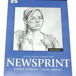 Atto Studi Blocco Blocco da disegno, Newspaper, Giornale di carta DIN A2100fogli 49G/M², confezione singola. 2