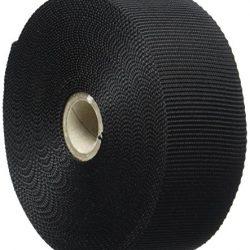 Kraftz® nero in polipropilene fettuccia 38mm x 10m di nastro multiuso per fai da te artigianale Belt zaino reggiatura grembiule bandierine