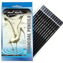 KOH-I-NOOR – Set matite carboncino, morbide, 6 pezzi, nero