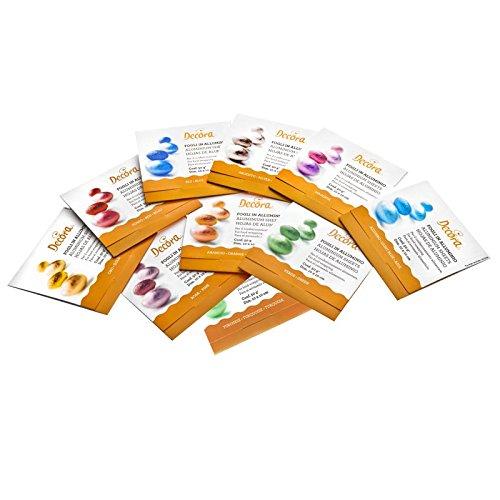Confezione da 25 fogli di carta metallizzata, foglia d'oro, carta dorata lucente per lavori manuali, da incollare su diversi oggetti, quali cartoline ecc., formato DIN A4