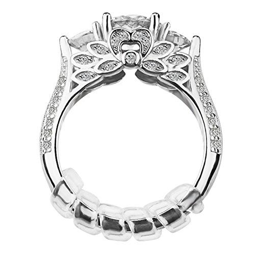 Velidy 600pezzi 304acciaio INOX doppio strato di salto anelli 5/6/7/8/10/14mm diametro split anelli con una scatola di plastica per per portachiavi gioielli fai da te accessori