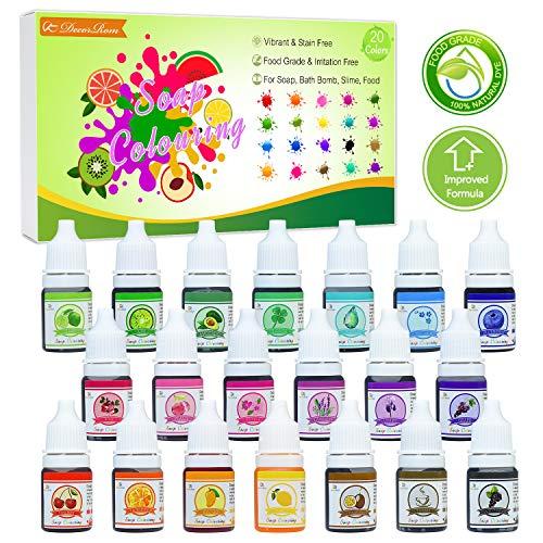 Vitory Pure Mica Polvere (12 Colori 10g/0.35oz ciascuno), Brillante Colorante Pigmento Polvere Confezioni (resina epossidica, vernice, sapone, bombe da bagno, cosmetici, slime, Art- Pack A
