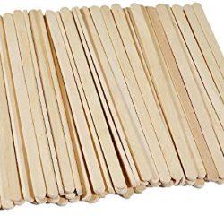 100pcs monouso Wood Coffee Stir Sticks agitatori individualmente Cartonne caffè tè bevanda bacchette Stirrings 14cm, 140mm 2
