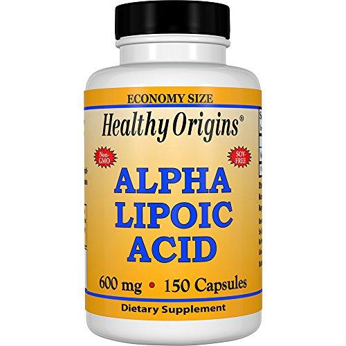 Best Naturals Alpha Lipoic Acid 600 mg Capsules, 120 Count