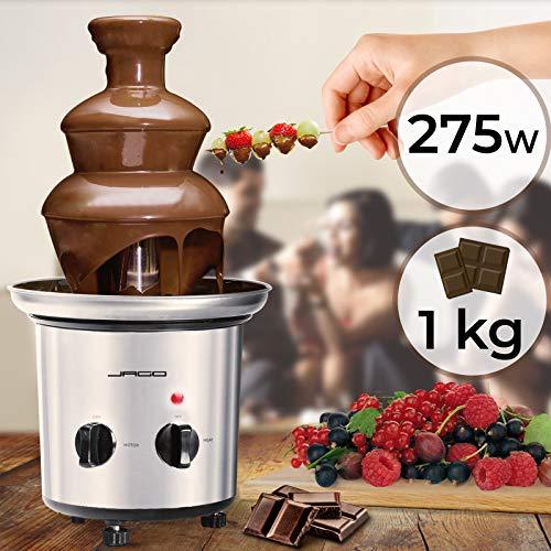 Gadgy ® Fontana per Fonduta di Cioccolato a 3 Piani da 90 Watt | Altezza 31,5 cm con Torre in Acciaio Inossidabile | Capacità 750 Grammi | Look Retrò | Perfetta per Feste dei Bambini e Matrimoni 2