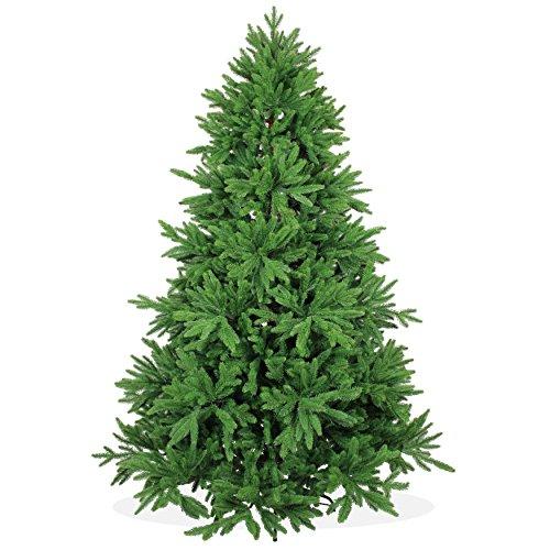 COM-FOUR® Copertura per l'albero di Natale in verde e rosso, copertura per l'albero di Natale con maniglia per il trasporto per alberi di Natale staccabili fino a 150 cm, 98 cm