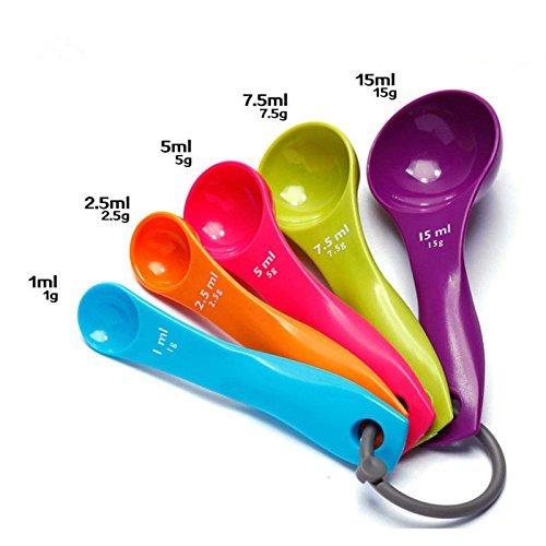 Set misurini e tazze da 10 in 1 Set da cucina e misurini in plastica per la misurazione di ingredienti secchi e liquidi-Perfetti per cottura e cottura
