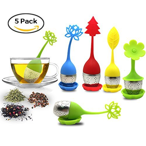 Infusore per il tè – Filtro per tè con filtro per tè in maglia di acciaio inossidabile per uso alimentare (confezione da 2, 4,5 cm)