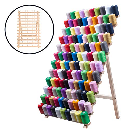 Grande borsa in tessuto, organizer per lavoro a maglia e accessori, per aghi, gomitoli e ferri