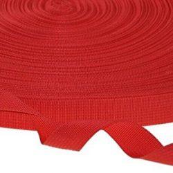 Kraftz® nero in polipropilene fettuccia 38mm x 50m di nastro multiuso per fai da te artigianale Belt zaino reggiatura grembiule bandierine