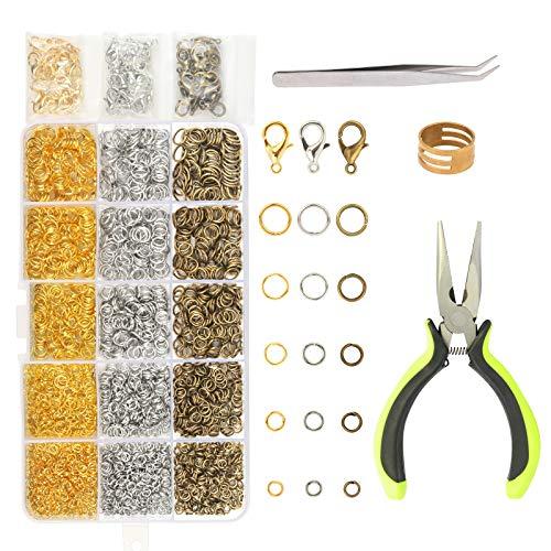 10 mm da Hoop 4 mm Gancio a Vite Occhielli a Vite Acciaio Inossidabile per La Resina, Gioielli, Perlina e Plastica, 100 Pezzi