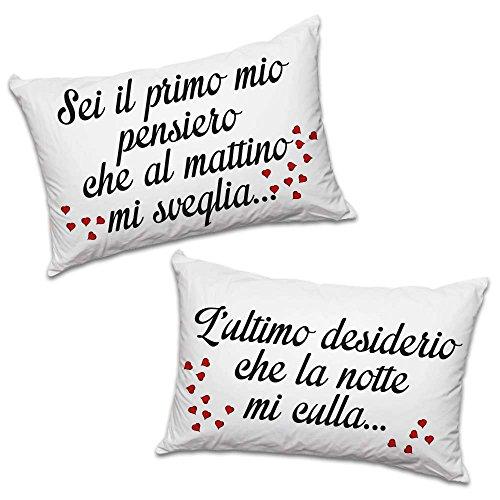 Bedsure Federe Cuscini Coppia – Federa Cuscino Letto per Capelli e Pelle 50 x 75 cm – Facile da Lavare