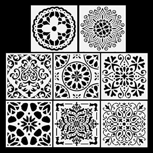 Plantillas de números 0123456789 – 12 cm, Reutilizables, 200 x 140 mm, 10 láminas separadas, plástico Mylar