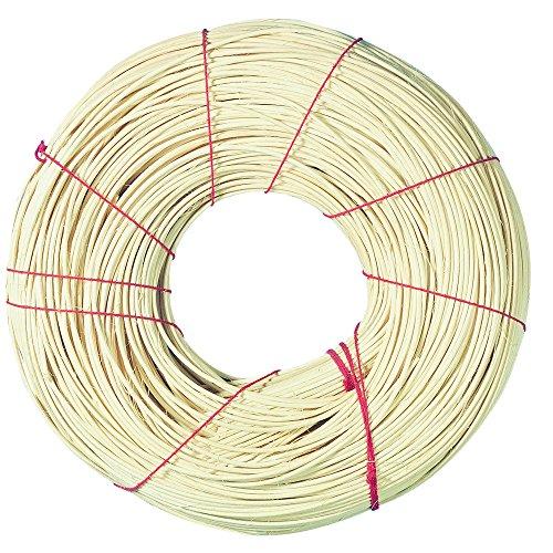 Rayher 6503400canna per/tubo intrecciato, 1a rotbandqualità€t, rotolo 500g, numero 6, diametro 2,6mm, multicolore, 3x 3x 0,4cm
