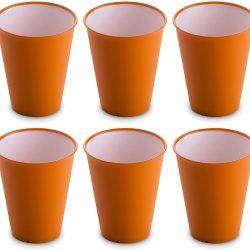 Omada Design Set di 6 Bicchieri bar, da bibita o long drink 30 cl, altezza 10 cm,in plastica, infrangibili, impilabili, ANTIBATTERICI con Microban e lavabili in lavastoviglie,linea Sanaliving