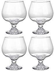Juvale Bicchieri da cognac (set di 4) – Bicchieri da brandy da 13 once per bourbon e whisky