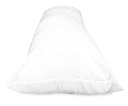 sleepling 190109-P Basic 100 Seitenschläferkissen Mikrofaser, Weiß