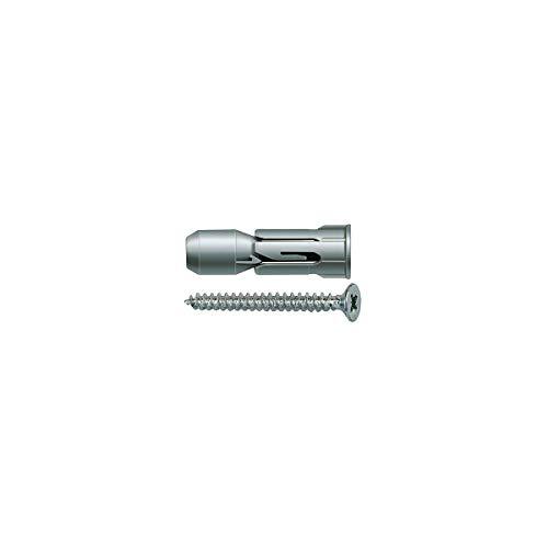 Fischer PD 8 S Tassello in nylon ad espansione conica per pannelli e lastre con vite, 50 pezzi, 24772 2