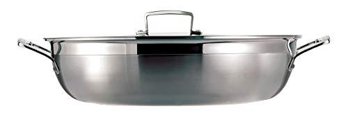 Le Creuset Tegame Basso Multistrato Antiaderente con Coperchio in Vetro, Ø 30 cm, Acciaio Inox, PFOA Free, Compatibile con Tutte le Fonti di Calore (Induzione Inclusa) 4