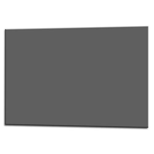 Glas Expert Paraschizzi in Vetro per Cucina | 75 x 60 cm | Grigio | EVOKERAM ® Vetro | Pannello di Decorazione da Perette | Paraspruzzi Piano Cottura | Rivestimento Parete 2