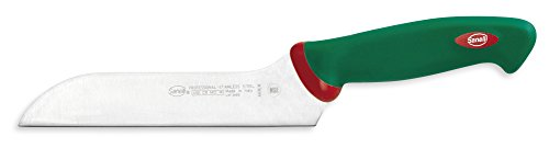 Sanelli Premana Professional Coltello Formaggio Zancato, Acciaio Inossidabile, Verde/Rosso, 31.0×3.0x7.0 cm