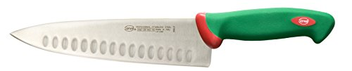 Sanelli Premana Professional Coltello Trinciate Olivato, Acciaio Inossidabile, Verde/Rosso, 21 cm
