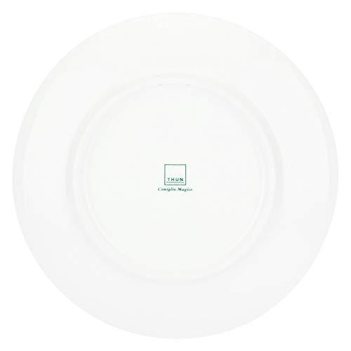 THUN – Piattino Grigio – Linea Coniglio Magico Piccolo – Porcellana – Ø 20,5 cm 3