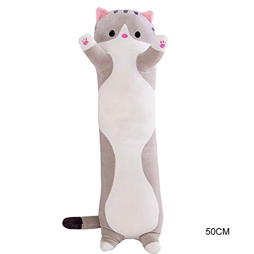 Ohyoulive Cute Plush Cat Doll Soft Stuffed Kitten Pillow Doll Toy Gift for Kids Girlfriend Creative New Long Cat Plush Toy Pillow Cute Doll Ragdoll Gift Sofa Supplies Soft And Good Breathability 3