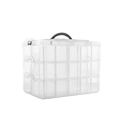 Liteness Portatile Staccabile della Scatola di immagazzinaggio di plastica a Tre Strati per Gli Accessori del Giocattolo di Lego Contenitore Trasparente e visibile dei Casi