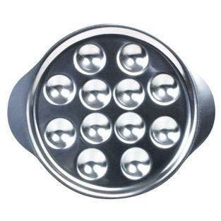 6 piatti per lumache in acciaio inossidabile – 12 posti