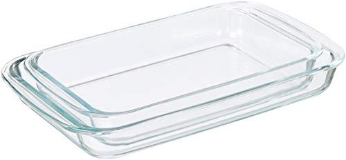 AmazonBasics – Pirofile da forno rettangolari in vetro, confezione da 2 2