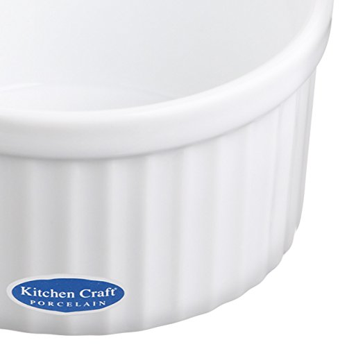 Kitchen Craft – Pirottini Grandi in Porcellana, 90 x 45 mm, Colore: Bianco 3