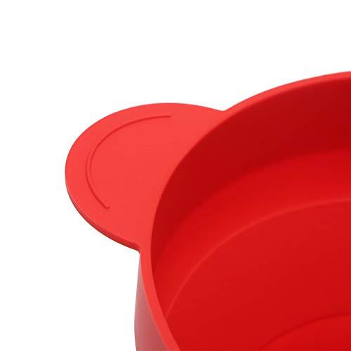 No brand Tuneway Ciotola Pieghevole nel Silicone per Popcorn Un microonde con Coperchio e Maniglie (Rosso) 11