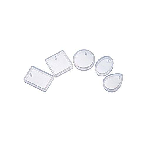 ROSENICE – Stampi in silicone per gioielleria fai-da-te, per realizzare ciondoli in resina, confezione da 5 unità