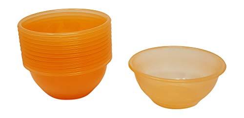Tosend Coppetta per Gelato o Macedonia dal Diametro di 11,5 cm Colore Giallo o Arancio – Set di 12 Pezzi Misure cm11,5×11,5x5h – Lavabile in lavastoviglie