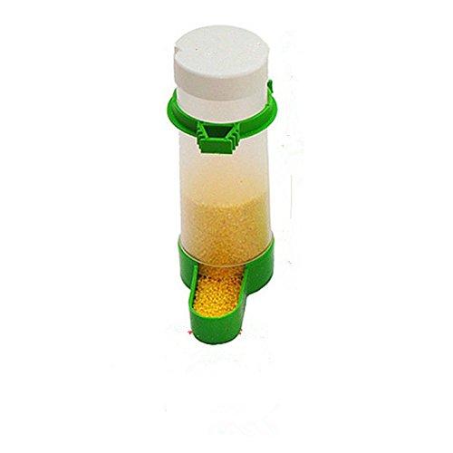Dewin Mangiatoia per uccelli – Mangiatoia per uccelli in plastica/Annaffiatrice, Gabbia di alimentazione automatica dell'acqua per semi, per pappagallo parrocchetto (Capacity : 150ML)