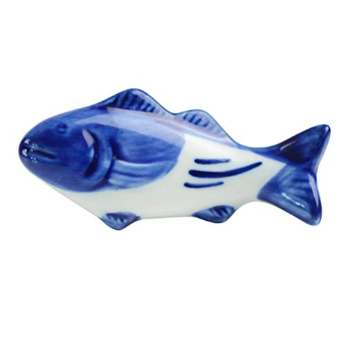 UPKOCH – Supporto creativo per bacchette in ceramica, a forma di pesce, per forchetta, coltello, cucchiaio, supporto per matrimoni, feste, decorazione per la casa e la cucina, 8 pezzi 8