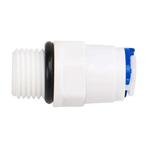 1/4 pollici maschio -1/4 pollici OD tubo collegare depuratori rapidi raccordi per tubi dell'acqua Spingere verso il filtro Tubazione Tubo Connettore Giunto tubo per sistema di osmosi inversa RO
