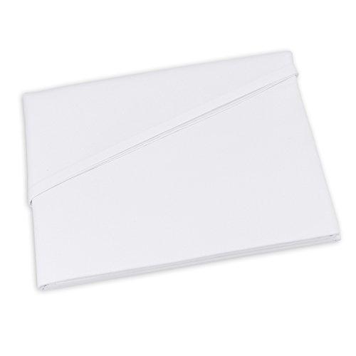 Lenzuolo Telo Panno per la casa Tovaglia bianca, Dimensioni 150 x 250 cm in 100% cotone 6