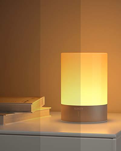 AUKEY Lampada da Comodino RGB Ricaricabile con 3 Luminosità 4