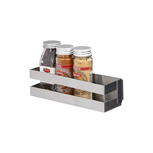 COMPACTOR Porta spezie magnetico, Fino a 1,5 kg, Acciaio inox, Argento, 20.5 x 6 x H.6 cm, RAN8201