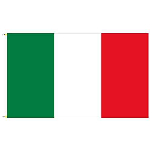 BGF Italia Bandiera 150 x 90 cm con Occhielli e Ganci Tessuto 100 G/mq