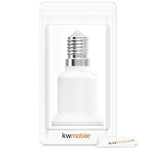 kwmobile adattatore lampadina E14 E27-4x attacchi porta lampada da E14 a E27 convertitore per lampadine alogene LED a risparmio energetico 7