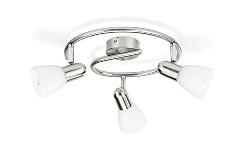 Philips Lighting Matt Chrome Spot Light Burlap Lampada Faretti a Spirale 3 Luci Orientabili, Bianco, 3 x 40 W 4