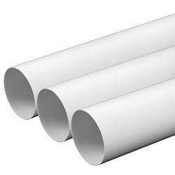 MKK Tubo di ventilazione, diametro 100 mm, lunghezza 0,5 m, in plastica ABS, rotondo, tubo di scarico, canale di ventilazione, diametro 10 cm e 50 cm di lunghezza