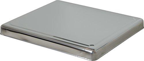 Jocca 6414- Copri piano cottura in acciaio INOX, 60.5 x 52.5 x 5.5 cm, Argento 3