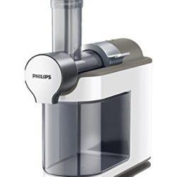 Philips Estrattori Microjuicer HR1894/80 Estrattore di Succo con Tecnologia Micro Masticating per Cogliere Tutta la Polpa di Frutta e Verdura, Bianco